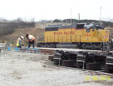 Union Pacific Train Rail Footing Repair