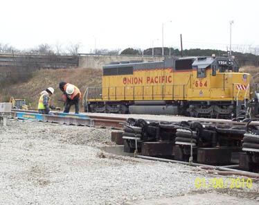 Union Pacific Train Rail Footing Repair