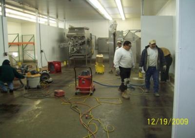 New Food Processing Room Floor Repair